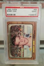 1966/67 Topps Bobby Orr RC Rookie Card #35 PSA 2 (Good Condition) Boston Bruins