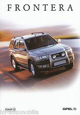 Opel Frontera Prospekt 6/99 brochure 1999 Autoprospekt Auto PKWs Geländewagen