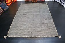 Designer Natur Kelim Teppich Handarbeit 100/% Baumwolle fein waschbar