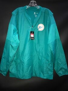 MIAMI DOLPHINS TEAM ISSUED THROWBACK ON FIELD LONG SLEEVE WINDBREAKER NEW W/TAGS