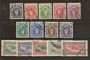ZANZIBAR 1952-55 DEFINS TO 10/- SG339/52 FU