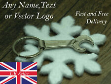 Personalised keyring cute mini metal spanner charm tool funny occasion party bir