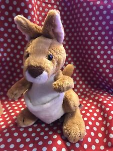 Ganz Webkinz Kangaroo Plush Toy Stuffed Animal No Code HM180 Brown Tan
