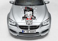 "BETTY BOOP BIKER CAR DECAL GRAPHIC VINYL (24""H X 21""W) HOOD OR SIDE"