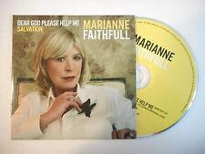 MARIANNE FAITHFULL : DEAR GOD PLEASE HELP ME [ FRENCH PROMO CD SINGLE PORT 0€ ]