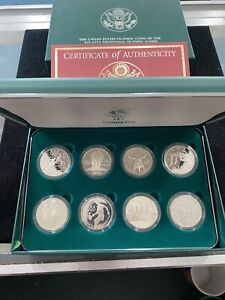 1996 U.S. Olympic Coins of the Atlanta Centennial Games 8 coin Proof Set W/ COA