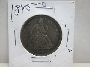 1845-O US SEATED LIBERTY SILVER HALF DOLLAR