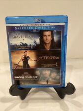 The Sapphire Collection Braveheart, Gladiator, Saving Private Ryan Blu-ray