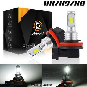 2X H11 H8 H9 LED Fog Light Bulbs Car Driving Lamp DRL 6000K Bright White CSP