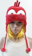 Cartoon larva Red Doll Figure Hat Cap Earmuffs Pretend Play Costume Incredible C