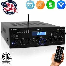 Theater Digital Audio System Receiver Amplifier with Pyle Pda6Bu Stereo Wireless