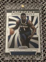 2019-20 Panini Prizm Emergent Rookie Zion Williamson RC #7 New Orleans Pelicans.