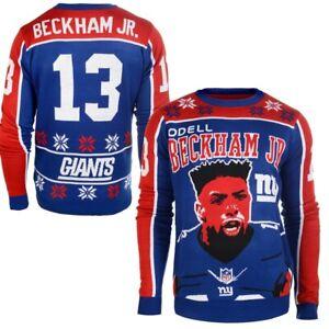 NFL Odell Beckham Jr New York Giants Klew Name & Number Ugly Sweater - Large
