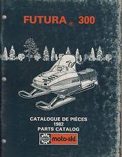 1982 MOTO-SKI  FUTURA 300  SNOWMOBILE PARTS MANUAL P/N 480 1163 00  (714)