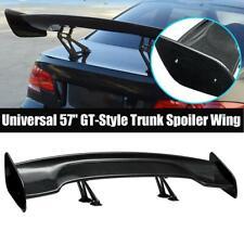 "57"" Universal Carbon Fiber Look Adjustable Wide GT-Style Rear Trunk Spoiler Wing"