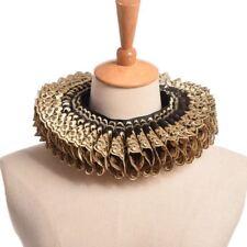 Gold Black Ruffled Collar Elizabethan Cosplay Gift Vintage Renaissance Neck Ruff