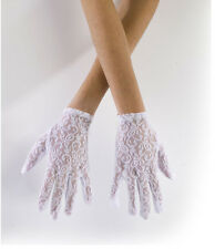 Sexy Angel White Lace Gloves Adult Halloween Costume Accessory