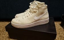 NIKE AIR FORCE 1 ULTRA FLYKNIT MID US size 8.5 Triple White Sneakers