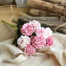 10 Heads Artificial Hydrangea Flowers Silk Bouquet Wedding Party Home Desk Decor