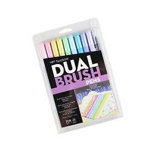 Tombow 56187 Dual Brush Pen Art Markers, Pastel, 10-Pack. Blendable, Brush an...
