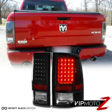"For 09-18 Dodge Ram 1500 2500 3500 ""BLACK CLEAR"" LED Tail Light Brake Lamp LED"