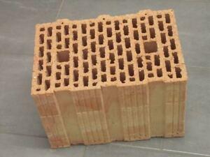 36,5er Unipor Blockziegel W14 12DF Hochlochziegel 24,7x36,5x23,8 Porotonsteine