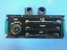 73 DATSUN 240Z DASH DASHBOARD HEAT VENT DEFROST FACE AIR TEMP FAN PLATE NICE OEM