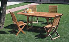 Tavolo da Giardino Allungabile in Legno 120-160X80X75 RIVIERA