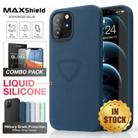 For iPhone 12 Pro Max Mini Case MAXSHIELD Soft Liquid Silicone Shockproof Cover