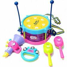 Kids Drum Set Musical Toys For Baby Girl, Boy Educational Toys For Children 5Pcs