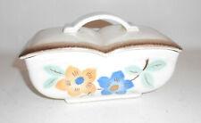 Old Ceramics Cookie Covered Dish Jar Flowers Spraying Decor Art 40er 50e