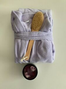 NEW! Lila Grace Robe and Bath Set - SPA EXPERIENCE COLLECTION - 3 pcs Set