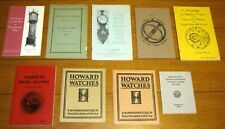 Watches and Clocks Booklet  Large Lot ( 9 Different )  NICE!!!!