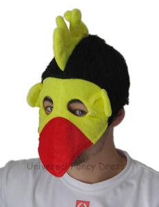 CHICKEN BIRD FANTASTIC SILLY HAT MASK - BLACK & RED
