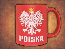 Kubek Polska Polish Poland Football Volleyball Supporters Fans  Mug Red