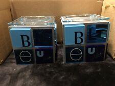Alize Blue Bottle Glorifiers. Set Of Two New
