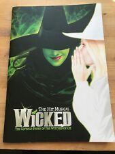 West End Brochure Wicked Rachel Tucker Louise Dearman Mark Evans Clive Carter