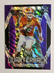 2021 TREVOR LAWRENCE LEAF PURPLE CRACKED ICE SSP non auto RC CRYSTAL MARBLE #/30