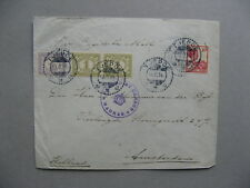 NEI NETHERLANDS INDIES, censored cover (Madras) Tjepoe to Amsterdam 1916