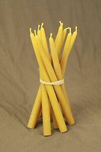 6 pcs Pure 100% organic beeswax handmade candles 10 inch