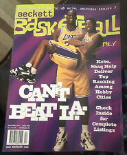 Kobe Bryant + Shaq Lakers Beckett Basketball price guide magazine 1997
