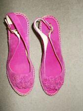 Clarks Lovely Pink Gamuza Cuña Zapatos Talla 5 Nuevo sin etiquetas
