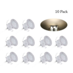 10PCS 32mm LED Deck Lights 0.6W 500LM SMD2835 Small Recessed In-ground B3B4