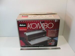 IBICO KOMBO HEAVY DUTY PAPER PUNCH BINDING SYSTEM EXCELLENT W/ MANUAL EXTRAS