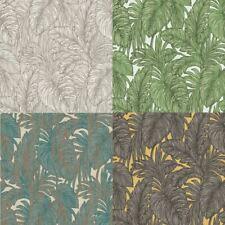 Erismann Botanical Leaf Textured Metallic Jungle Summer Non Woven Wallpaper