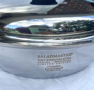 Saladmaster 316Ti Limited Edition 4.5 Quart Brasier Waterless Stainless Steel