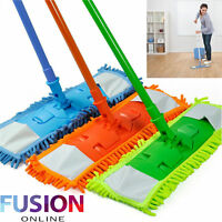 Microfibre Mop Cleaner Sweeper Extendable Wooden Laminate Tile Floor Wet Dry