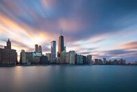 Chicago Illinois Skyline from Lake Michigan Photo Art Print Poster 18x12 inch
