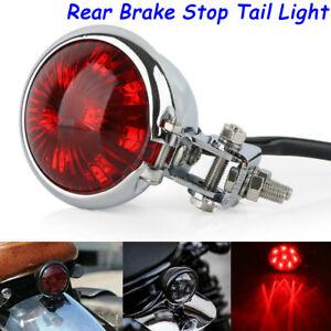 Motorcycle LED Rear Brake Stop Tail Light Lamp Universal For Harley Cafe Racer