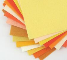 """15 -9""""X12""""  Yellow And Orange Colors Collection - Merino Wool blend Felt Sheets"""